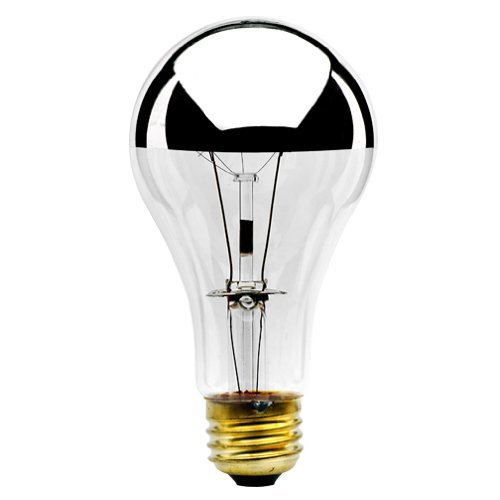 Bulbrite 100A21HM Half Chrome 100W A Shape Bulb - 2 Pack (Inside Frosted Light Bulb)