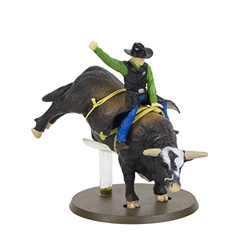 Pbr Bull - Big Country Toys PBR Bushwhacker Rodeo Bull with Rider - 1:20 Scale - Bull Riding Figurine - Bushwhacker The Bull - Collectible
