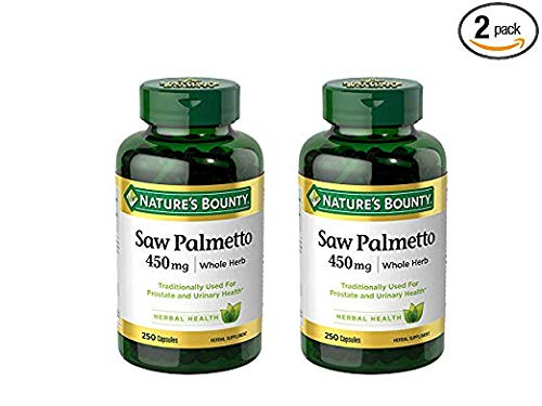 Nature's Bounty Saw Palmetto 450 mg Capsules 250 ea (Pack of - 50 Mg Caps 550