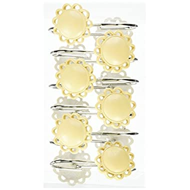 Carnation Home Fashions Filigree Resin Shower Curtain Hooks, Yellow, Set of 12