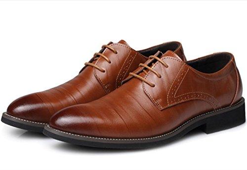 hommes taille de Chaussures cuir pointu 45 mariage à pointues en XDGG Chaussures Business pour Chaussures bout yellow de grande wxBaSqR0qI