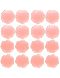 Senchanting Thin Reusable Adhesive Silicone Nipple Covers Breast Petals Pasties