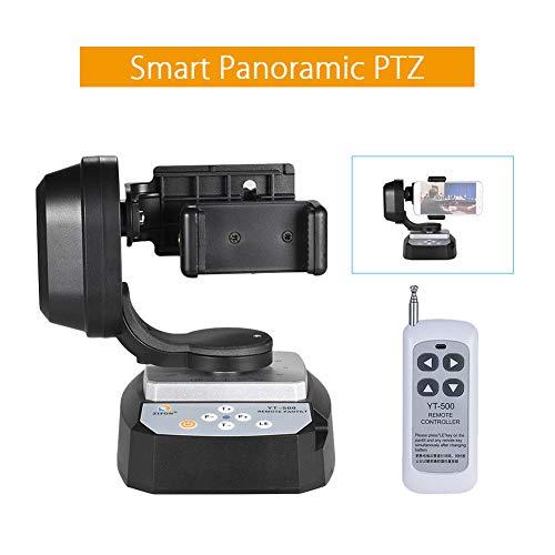 Remote Control Pan Tilt, 20m Automatic Remote Control Motorized Pan Tilt Head, Auto Motorized Rotating Video Tripod Head(Max. Load 500g) for Camera and Smartphone(black)