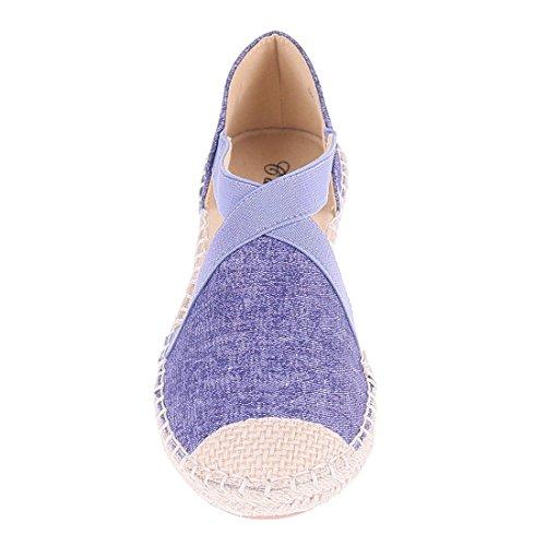 CATISA-bal4_fd258-Bailarinas para mujer Azul - azul