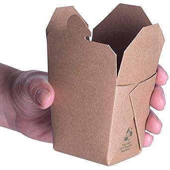 Cajas extraíbles chinas para microondas, color marrón, 236 ml ...