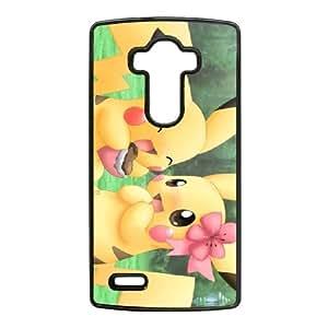 LG G4 Cell Phone Case Black Cartoon Game Pikachu Custom Case Cover A11A563179