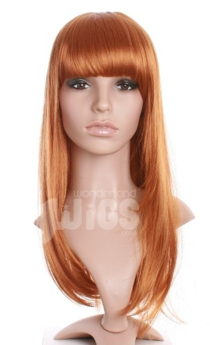 Amazon.com   Stunning Long Ginger Auburn Layered Straight Ladies Wig    Hairpieces   Beauty cfb74930f