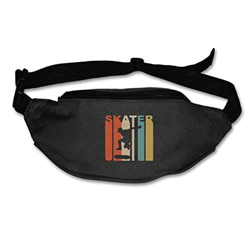 Retro 1970's Skater Skateboarding Running Waist Pack Bag,Running Sling Backpack Crossbody Bag Fanny Packs