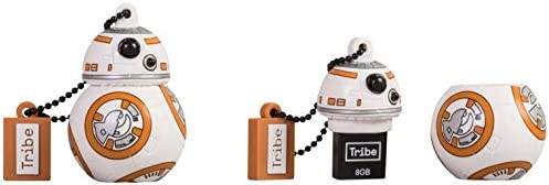 Tribe Disney Star Wars BB8 - Memoria USB 2.0 de 16 GB Pendrive Flash Drive de Goma con Llavero