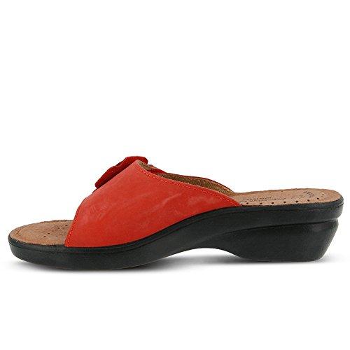 Flexus Mujeres Fabia Essentials Slide Sandalia Rojo