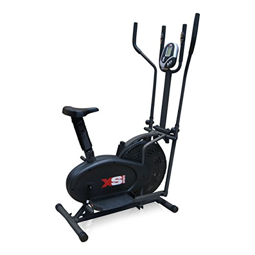 Pro XS Sports 2-in1 Elliptical Cross Trainer Exercise Bike-Fitness Cardio...