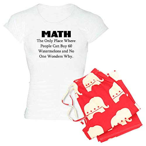(CafePress Math The ONLY Place Where People CAN Buy 60 WATERM Womens Novelty Cotton Pajama Set, Comfortable PJ)