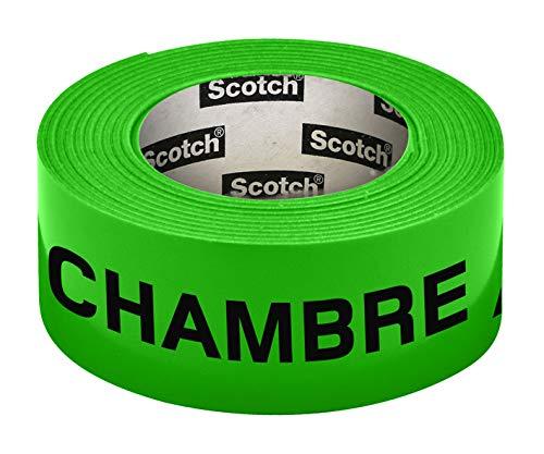 Scotch 300154G Pre-Printed Neon Neon Room Tape 30 mm x 50 m Green by Scotch Brand