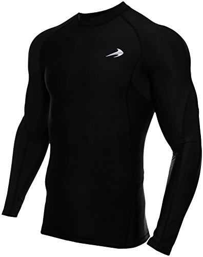 Men's Long Sleeve Compression Shirt - Performance Base Layer for Fitness, Basketball, Gym, Sport Wear - Cool Dry Running Shirt for Muscle Recovery - Winter Thermal Underwear for Men By CompressionZ