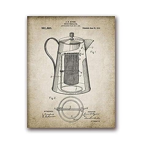 Producción de café vintage cartel imprimir infiltrator de ...