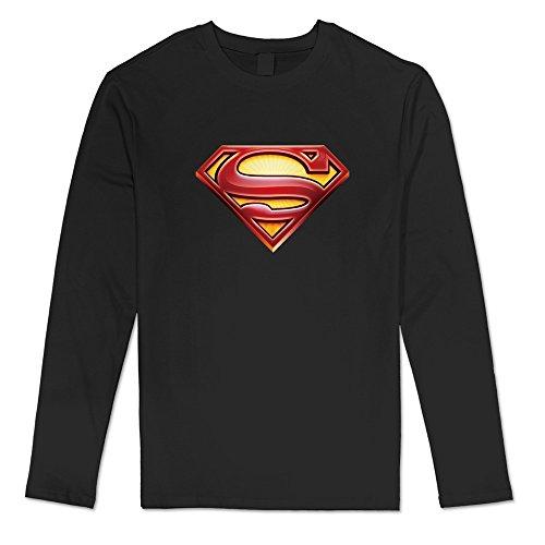 DAVID Men's Costume Kryptonite NYCC Batman Superman T Shirts Black Long ()