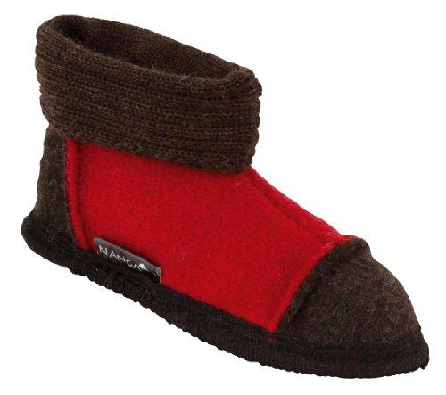Nanga 0001 - Zapatillas de casa de fieltro unisex Rojo (Rot)