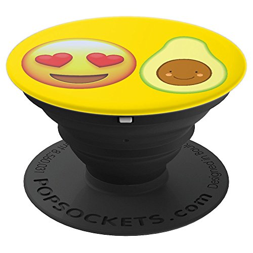 Emojicon Heart Love Avocado Guacamole Phone Holder Grip - PopSockets Grip and Stand for Phones and Tablets -