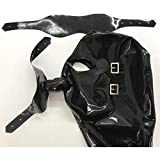 Latex Rubber Hood with Removable Eyes and Mouth
