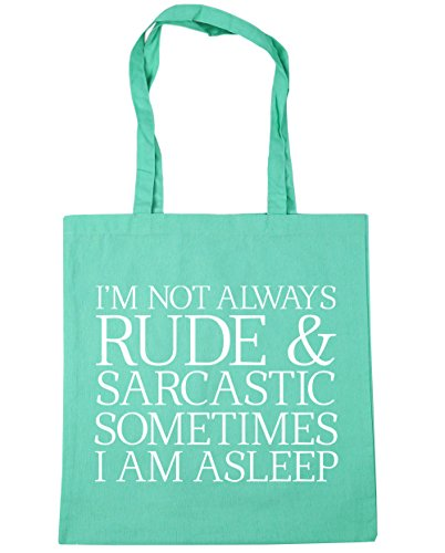 Gym Always And I'M I HippoWarehouse Shopping Mint Not litres Asleep 10 Bag 42cm Beach Tote Am Sarcastic x38cm Sometimes Rude xn7nEwIf