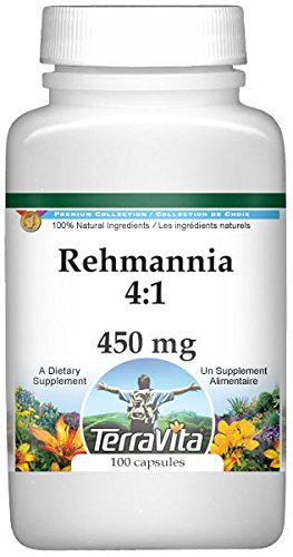 Rehmannia 4:1-450 mg (100 Capsules, ZIN: 521280) - 3 Pack by TerraVita (Image #1)