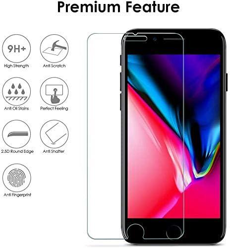 1 Pi/èces Sans Poussi/ère Protection en Verre Tremp/é /Écran pour iPhone 6 Plus //6s Plus //8 Plus Spyden Verre Tremp/é pour iPhone 6 Plus //6s Plus //7 Plus //8 Plus Installation Facile Duret/é 9H