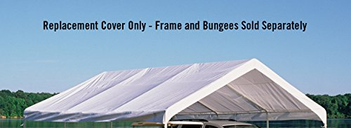 ShelterLogic Super Max Canopy Accessories Replacement Cover, White, 18 x 20-Feet by ShelterLogic (Image #2)