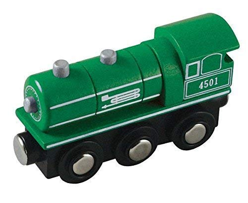 Li'l Chugs Wooden Trains Green Steam Engine ()
