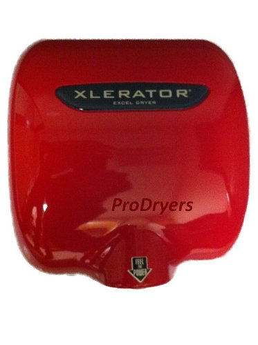 Excel Dryer XL-SP Red XLERATOR Automatic Commercial Hand Dryer,Zinc Die Cast Red Cover, XL-R