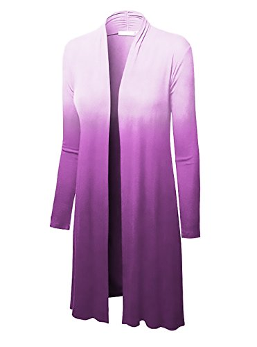 Ufficio Forti Giubbotto Casual Cardigan Slim Manica Giacca Lunga Moda Elegante Gradient Donna Autunno Porpora Taglie Tailleur qaBTpWza