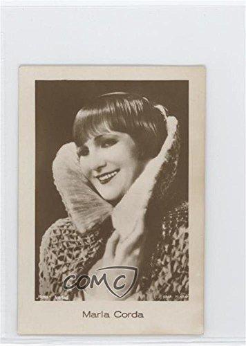 Maria Corda (Trading Card) 1920s Jasmatzi Hansom Flimbilder - Tobacco [Base] - Ornate Border Hansom Back #24