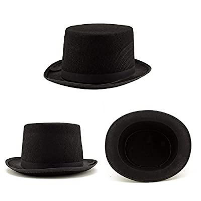 Adorox Sleek Felt Black Top Hat Fancy Costume Party, No Color, Size No Size: Toys & Games