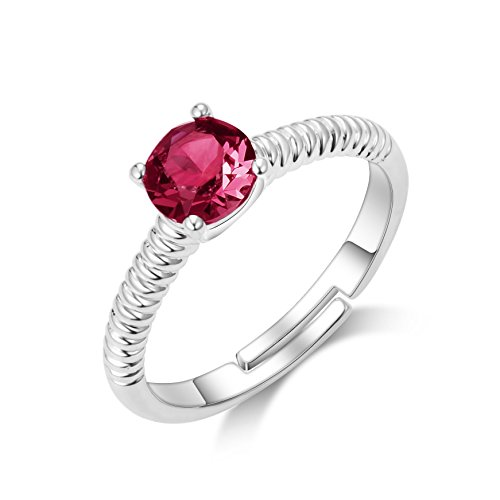 77432b9a0 Philip Jones January (Garnet) Birthstone Ring with Crystals from Swarovski