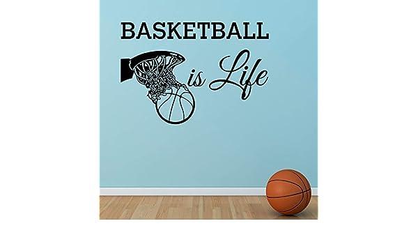 Basketball Is Life Tatuajes de pared Cita Baloncesto Hoop Wall ...