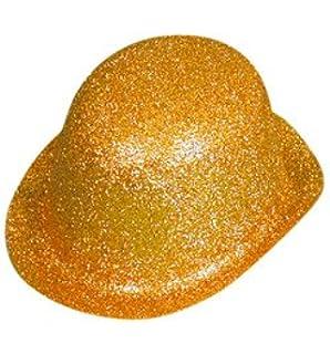8aa59156c327e Hat Glitter Bowler Silver PVC for Fancy Dress Party Accessory ...