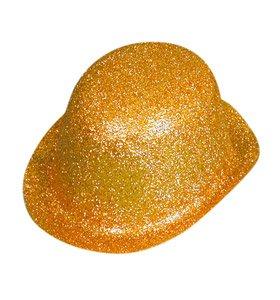 eecce7e3fa283 Hat Glitter Bowler Gold PVC for Fancy Dress Party Accessory  Amazon ...