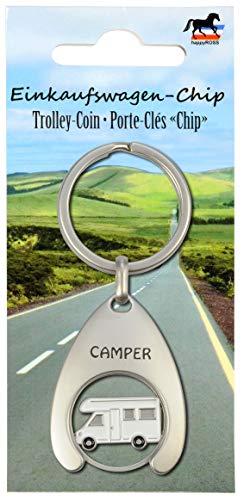 41SvseBVsWL Schlüsselanhänger mit Einkaufswagenchip Camper