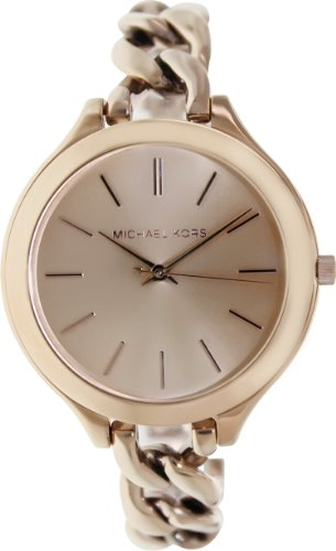 Michael Kors Women's MK3223 Slim Runway Rose Gold-Tone Stainless Steel Bracelet Watch by Michael Kors