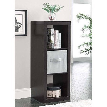 Durable Better Homes and Gardens 3-Cube Organizer, Espresso For Sale