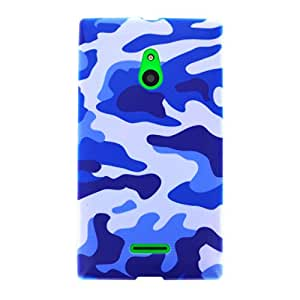 Us-Trendsss TPU Soft Cover Printed Case for Nokia XL(Camouflage Blue)