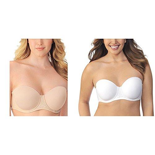 Vanity Fair Women's  Beauty Back Strapless Full Figure Underwire Bra 74380, Rose Beige/Star White, 44C