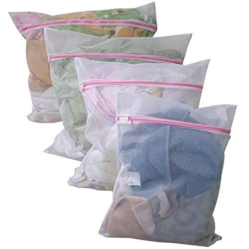 Hulless Set of 8 Travel Underwear Bra Laundry Bag, Delicates mesh Zipper Laundry Bag, Clothing Laundry Washing Bag for Laundry,Blouse, Hosiery and Lingerie, 2 Extra Large,2 Large,2 Medium,2 Small.