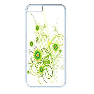 Plant Vector Design PC White Case for Iphone 6 Chrysanthemum