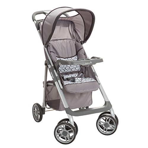 Safety 1st Saunter Sport Stroller, Multiple Compartments, Adjustable Recline, Brookstone Grey