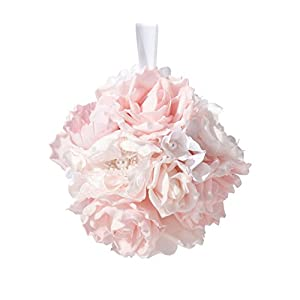 Lillian Rose Blush Pink Rose Hanging Flower Ball Wedding Decor 10