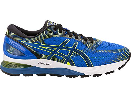 ASICS Men's Gel-Nimbus 21 Running Shoes, 6M, Illusion Blue/Black by ASICS (Image #5)