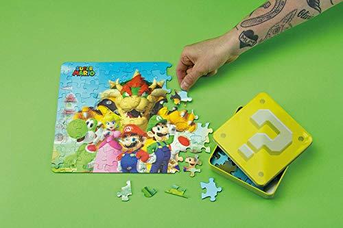 [해외]Paladone 슈퍼 마리오 브라더스 캐릭터 3D 조각 퍼즐 수집용 주석 - 112 피스 / Paladone Super Mario Bros Characters 3D Jigsaw Puzzle in Collectible Tin - 112 Pieces