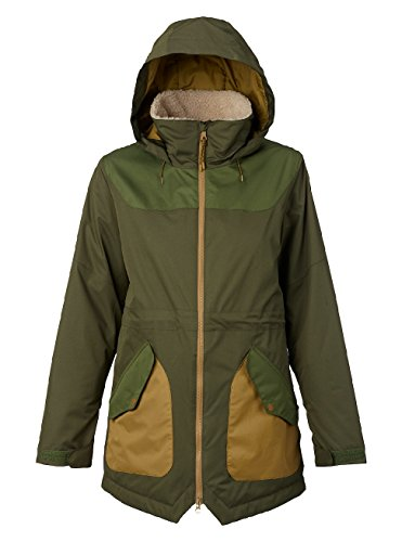 Green Snowboard Jacket (Burton Women's Prowess Jacket, Forest Night/Rifle Green, Large)
