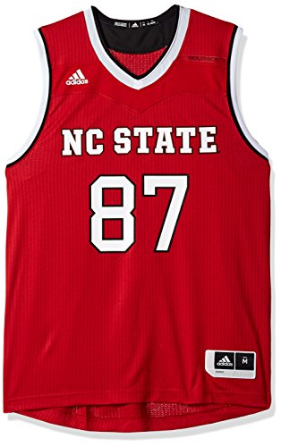 (adidas NCAA North Carolina State Wolfpack Mens Replica Basketball Jerseyreplica Basketball Jersey, Power Red, Medium)