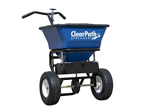 Buyers Products 3039632 Clear Path Walk Behind Salt Spreader, Blue